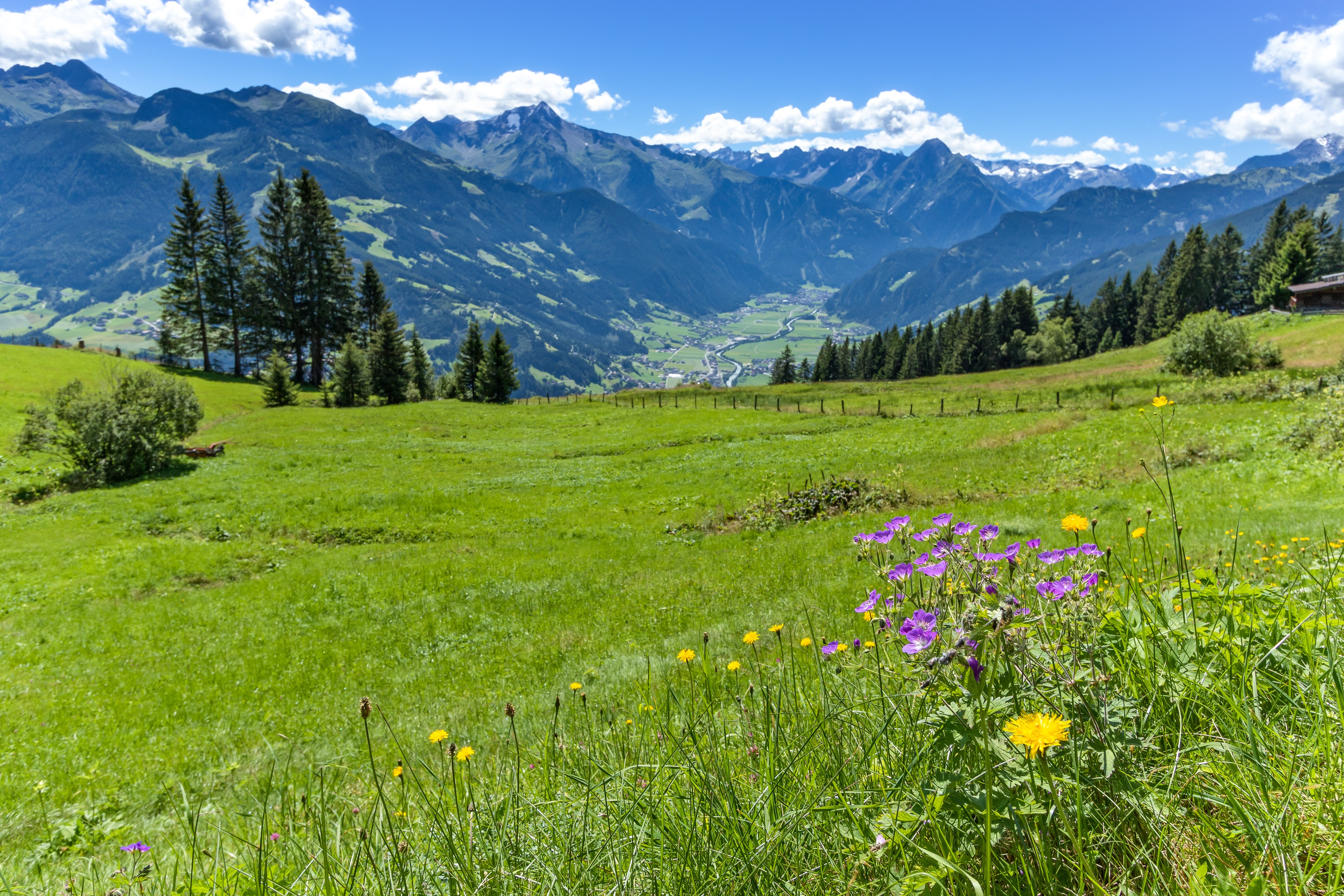 Alpine Mountain View, Zillertal, Austria