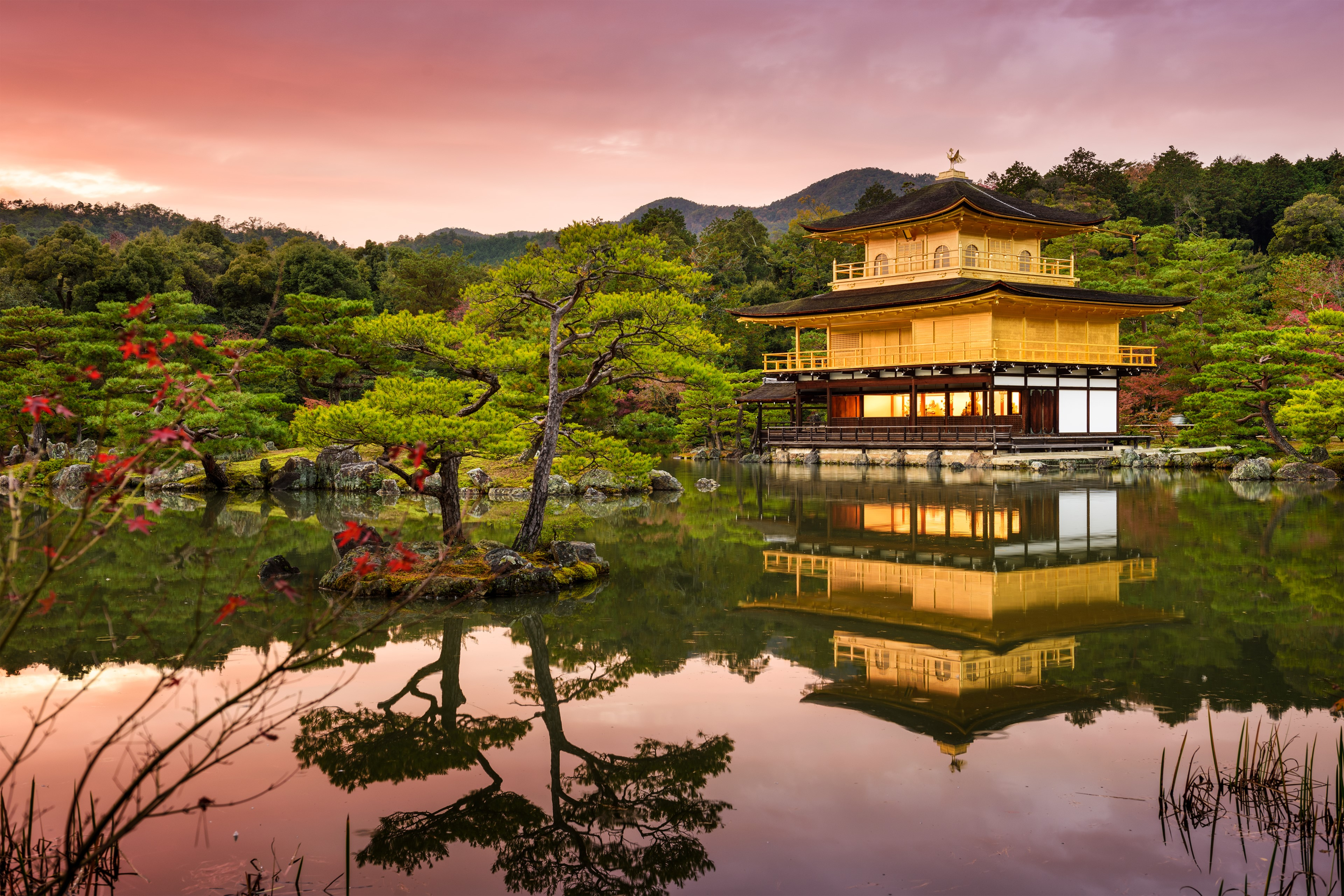 The Golden Pavilion at Dusk, Kyoto