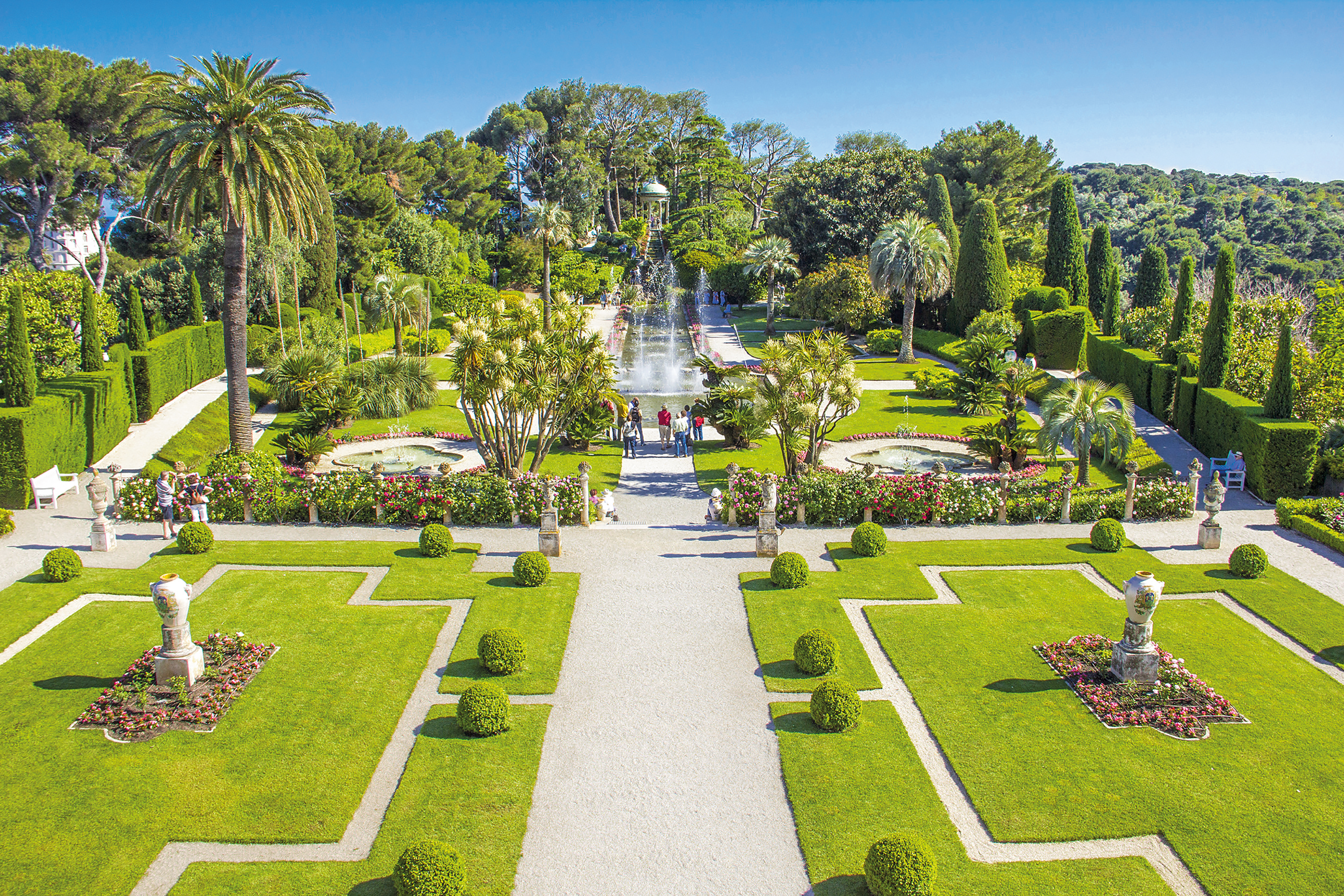 Gardens in the Villa Ephrussi de Rothschild