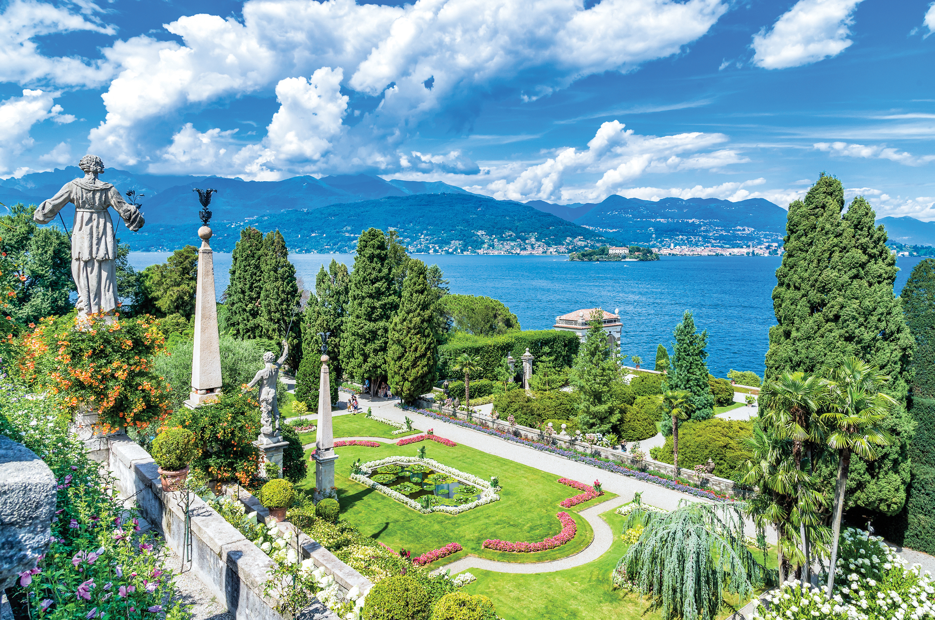 Baroque garden of Isola Bella